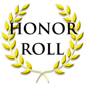 9th Grade Honor Roll, Fall 15Week