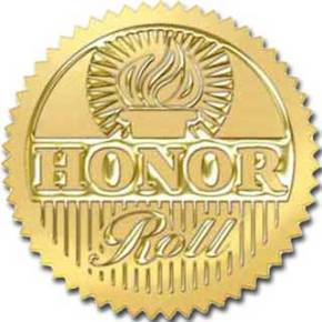 Eighth Grade Honor Roll, Fall 10 Week