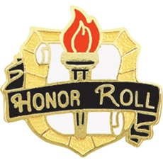 700-0-P631-Honor-Roll-Award-Pin-Torch-and-Scroll-on-Shield-000