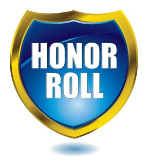 Eighth Grade Honor Roll, Fall 20 Week