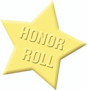 Seventh Grade Honor Roll, Fall 20Week